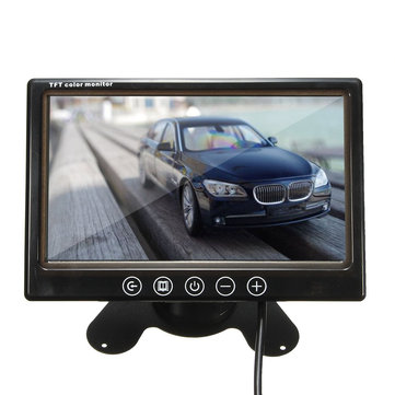 7 Inch TFT LCD Colour CCTV Car Security DVR Camera Reverse Backup Monitor