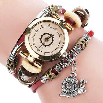 Orologio da donna al quarzo con cinturino in pelle con quadrante color diamante e stile residenziale originale
