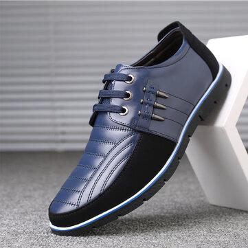 Đàn ông cỡ lớn kinh doanh sợi nhỏ Soft Giày da Oxfords