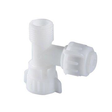 Limpiador para inodoro T Conector Tornillo Diente G1/2 15/16 Válvula mezcladora para agua fría Cuarto de baño Accesorio