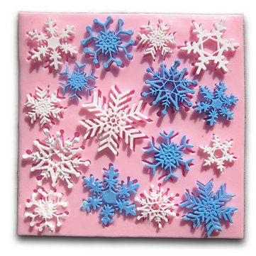 Christmas Snowflake Fondant Mold Cake Silicone Mould Decorating Tool