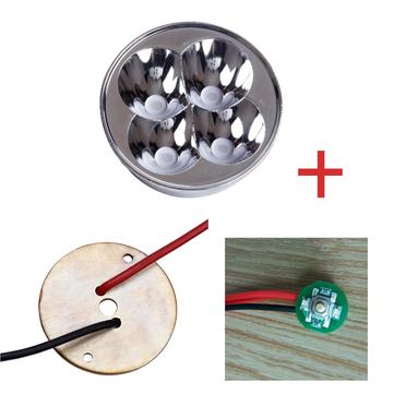 BLF Q8懐中電灯アクセサリーセット付き照光式スイッチアセンブリ+銅DTP MCPCB +リフレクター