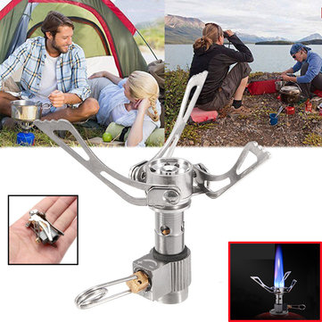 Outdoor Portable Mini Folding Cooking Stove Ultralight Pocket Camping Picnic Gas Burner