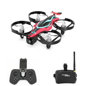 Eachine E013 Plus Micro FPV Racing Drone Anti-Turtle Mode w/ 5.8G 48CH 1000TVL Camera VR006 Goggles