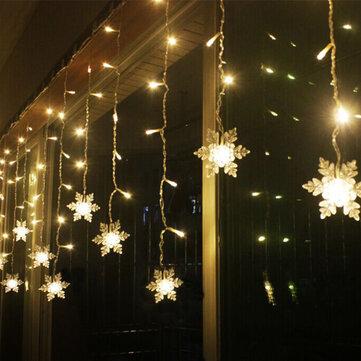 Snowflake Christmas Lights.3 8m Led Curtain Snowflake String Lights Led Fairy Lights 8 Modes Christmas Lights Wedding Party Decoration 220 240v