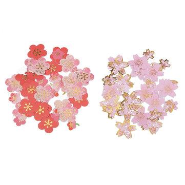 DIY Scrapbooking Paper Cherry Blossoms Diary Stickers Wedding Album Plum Flower Decoration
