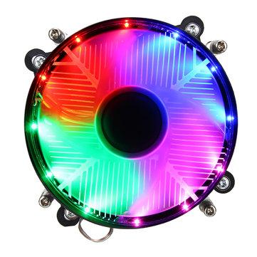 12V DC 3Pin CPU Cooling Fan CPU Cooler Coloful LED for Intel LGA 1150/1151/1155/1156/1366