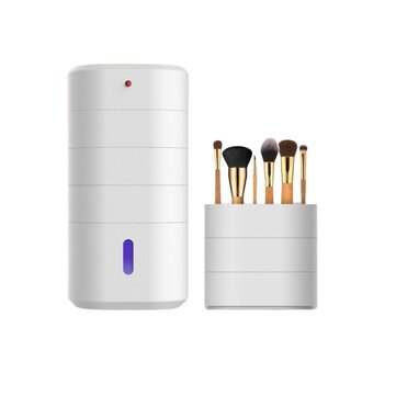 Portable Rechargeable Deep Ultraviolet UV-C LED Multi-layer Sterilization Box Beauty Tools Storage Box