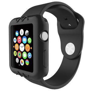 Universell silikonskrapresistent beskyttelsesklokke for Apple Watch Serie 1/2/3 38mm / 42mm