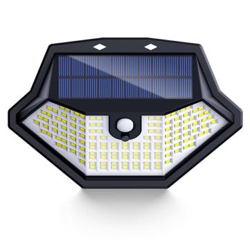 ARILUX 134LED Solar Light 3 Modes Light Sensor PIR Human Induction Wall Lamp IP65 Waterproof