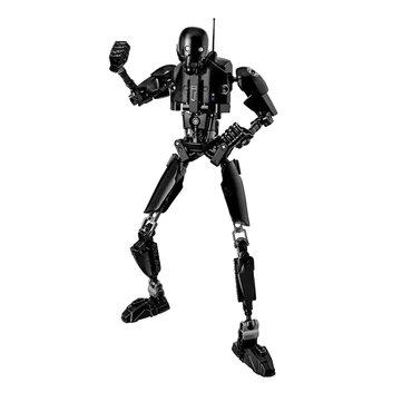 Creative Black Robot Building Blocks Toys Children Toys Gifts