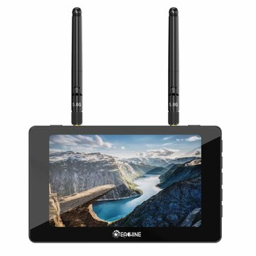 Eachine Moneagle 5 Inch IPS 800x480 5.8GHz 40CH Diversity Receiver 1000Lux FPV Monitor With DVR 360° Full View HD Display Built-in 4000mAh Battery For RC Drone Radio Controller