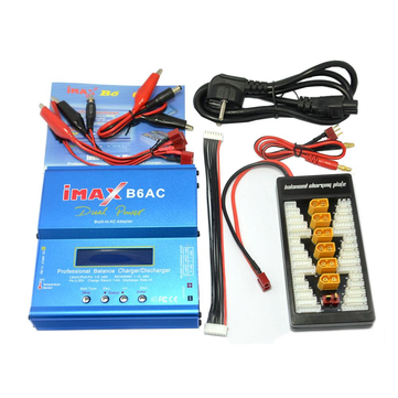 iMAX B6AC 80W 6A Dual Balance Charger Discharger With XT60 T Plug Parallel Charging Power Adapter Board