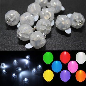 100 PCS White Led Lamps Balloon Light For Paper Lantern Wedding Party Decoration