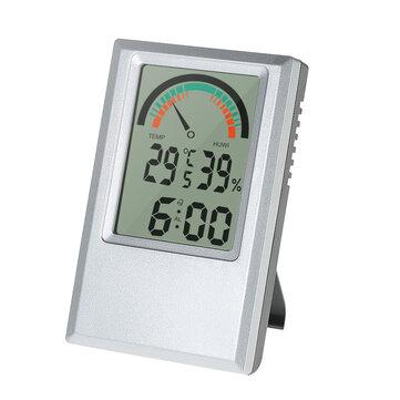 Digital Hygrometer Thermometer Garden Temperature Humidity Meter Max Min Value Alarm Clock Comfort Level Testing Tools