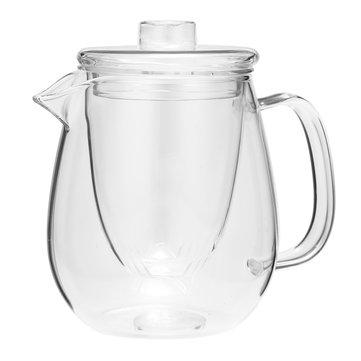 600ML Varmebestandigt Klar Glas Kaffe Te Pot Blad Med Filter Filter Infuser