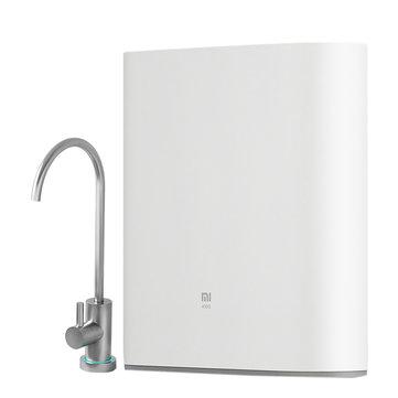 Xiaomi 1A purificador de água, tecnologia de osmose reversa RO, sob instalação de bancada, seguro & confiável casa bebendo filtro de água sistema de filtragem, funciona com Mi APP em casa, filtro substituível