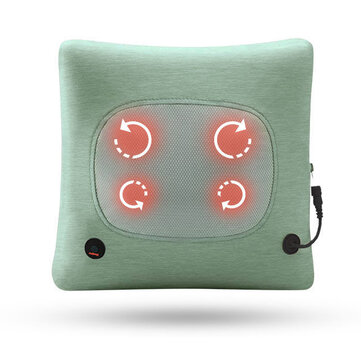 Electric Cervical Spine Back Massager Multifunctional Wireless Waist Physiotherapy Massage Pillow Cushion For Office Home