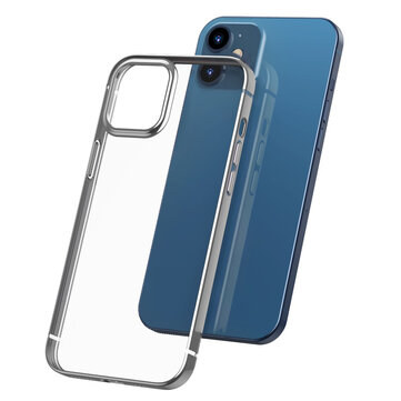 Bakeey for iPhone 12 / For iPhone 12 Pro 6.1 inch Case Plating Ultra-thin Transparent Non-Yellow Shockproof Soft TPU Protective Case