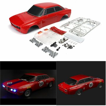 Killerbody 48319 Alfa Romeo 2000 GTAm Tubuh Shell Merah Setengah Jadi Untuk 1/10 Touring Mobil Listrik
