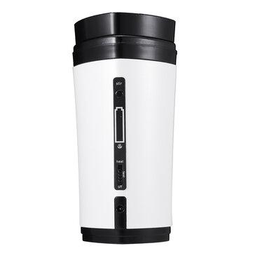 USB Coffee Cup Rechargeable Heating Self Stirring Mixing Mug Warmer Coffee Capsule Cup