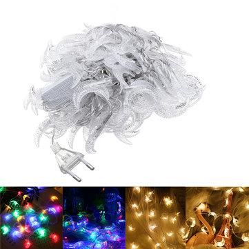 10M Moon Shape Warm White Colorful 100 LED String Fairy Holiday Light Home Decor EU Plug AC220V