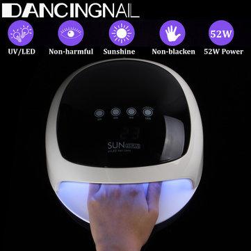 SUN4S PLUS 52W LED UV Nail Lamp Light Gel Polish Dryer Nail Art Curing Machine