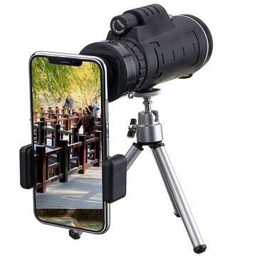 40X60 Monocular Optical HD Lens Telescope + Tripod + Mobile Phone Clip