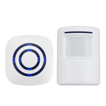 Wireless Infrared Motion Activated PIR Sensor Entry Doorbell Chime Welcome Chime