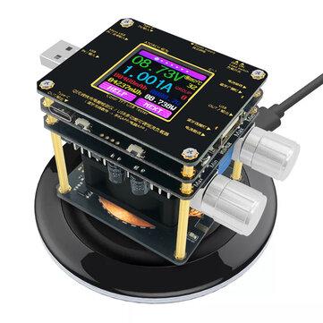 Bộ kiểm tra bộ sạc không dây QI Màu TFT Ứng dụng Bluetooth Android PC USB Bộ đo điện áp hiện tại Chỉ báo tải DC