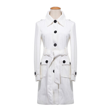Women Sexy Woolen Medium-long Coat casual Elegant Career Coats