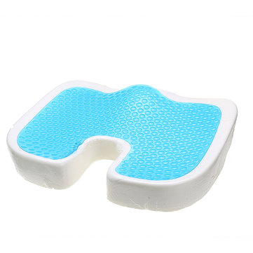 U-shape Polyurethane Slow Rebound Sponge Gel Pillow Coccyx Orthopedic Memory Foam Cool Seat Cushion Pain Relief