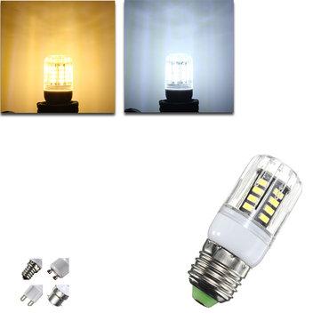 G9/E14/E27/B22/GU10 4W 30 SMD 5733 LED Cover Corn Light Lamp LED Bulb AC 220V