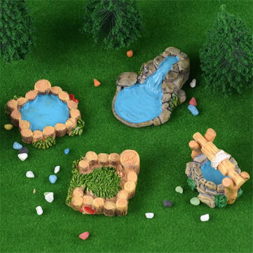 5Pcs DIY Resin Craft Antique Imitation Fairy Garden Home Miniature Decorations Micro Landscape