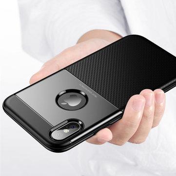 Bakeey Armor Anti Fingerprint Hybrid PC og TPU beskyttelsesveske til iPhone X