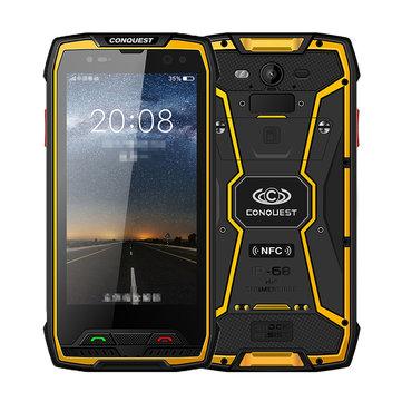 CONQUEST S11 IP68 Waterproof 5.0 Pollici 6GB RAM 128 GB rom MTK6757 Octa Core 2.6GHz 4G Smartphone