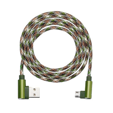 APPACS Camouflage Micro USB to USB Double 90 Dregee Right Angle Tablet Cable 1M