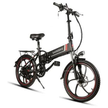 [EU Direct] Samebike XW-20LY 350W Smart Folding Electric Bike 35km/h Max. Speed 48V 8AH E-Bike Battery