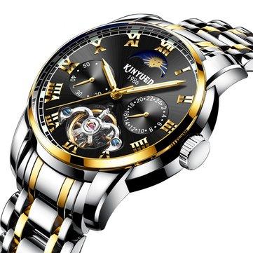 KINYUED JYD-J028 All Steel Band Automatic Mechanical Watch Business Style Men Wrist Watch