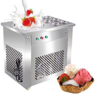 220V/110V Fried Ice Machine With 6 Barrels Ice Cream Making Machine