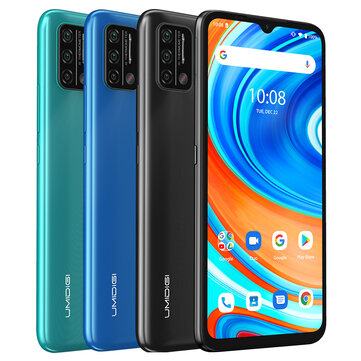 UMIDIGI A9 Global Bands 6.53 inch HD+ Infrared Thermometer Android 11 5150mAh 3GB 64GB Helio G25 13MP Triple Rear Camera Octa Core 4G Smartphone