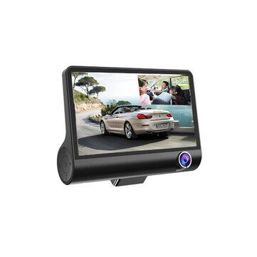 4 Pollici FHD 1080P auto DVR fotografica 3 lente supporto per registratore visione notturna