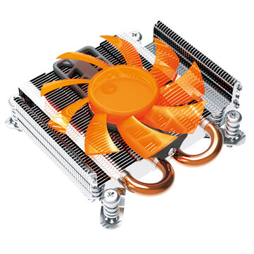 PCcooler S89 27mm Ultra-Thin Computer CPU Cooler 2 Heatpipes 80mm Mute Radiator Socket Intel 775 115x CPU Cooler For HTPC 1U Mini Case AIO Server