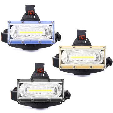 BIKIGHT 1300LM 30W COB LED Rechargeable 18650 USB Headlamp Cycling Lamp
