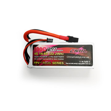 CNHL G+PLUS 14.8V 1500mAh 4S 100C Lipo Battery XT60U Plug for RC Drone FPV Racing