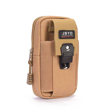 Men Canvas Belt Loop Hook Holster Outdoor Pouch Bag for Mobile Phone up to 6inch
