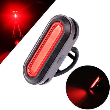 XANES TL23 150LM COB Bicycle Taillight 6 Modes Warning LED USB Charging 360° Rotation Bike Light