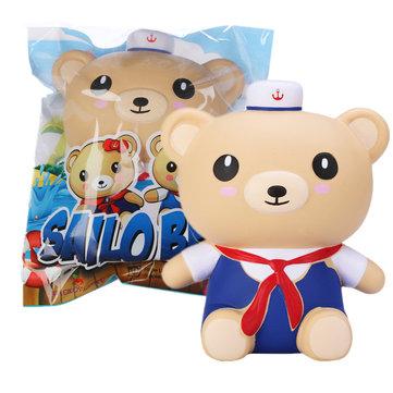 Appelbloesem matroos beer squishy 17cm marine jongen blauw pak geurende geschenkverzameling met verpakking