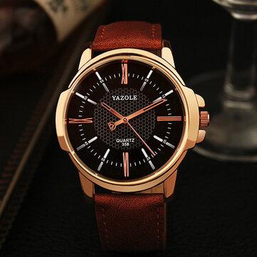 YAZOLE 358 Fashion Men Kuarsa Watch Luxury Roman Numeral Jam Tangan