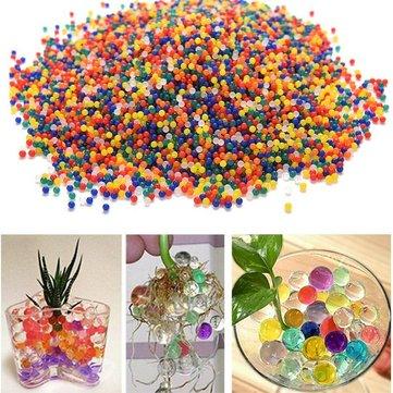 10000PCS / Sac à Perle en Forme de Cristal de Sol Magique Ballons Gel Gonflants Hydrogel Gel Polymère Perles d'Eau pour Plant Fleur Décor Domestique